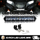 "10"" Single Row 50W CREE LED Light Bar Polaris RZR 900 1000 2700 RZR 800 Grill"