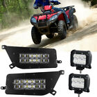 120W LED Headlight Kit Hi/Low Fit Polaris 14-16 RZR 900 X1P UTV+2x 18W Light Bar