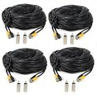 Masione 4 Pack 100ft BNC Video Power Cable Security Camera Wire Cord for CCTV...