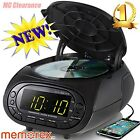 Memorex CD Top Loading Dual Alarm Clock AM/FM Stereo Radio MC7264 with 0.9-In...
