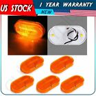 5pcs 4'' Amber Oval Side Marker Light 6 Led Clearance Lamp Trailer Camper Truck