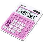 Casio MS-20NC-PK Basic Calculator LARGE DISPLAY Tax Calculations MS20NC Pink