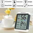 Thermometer Humidity Gauge Hygrometer 4'' Touch Screen Real Time History Record