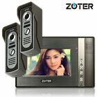 ZOTER 7 inch LCD Monitor Video Door Bell Phone Intercom 2x Metal Cameras System