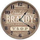 """10.5"""" BROWN BRANDY KEG CLOCK - BRANDY CLOCK - Large 10.5"""" Wall Clock - 4069"""