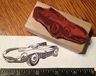 1955 Jaguar D type Race Car RUBBER STAMP or CUT AWAY POSTER drawing 1956 1957