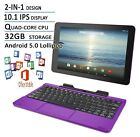 RCA Viking Pro Flagship Purple Edition 10.1 Touchscreen 2 In 1 Tablet Laptop ...