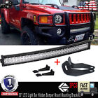 "Hummer H3 30"" Curved LED Light Bar w/ Hidden Mounting Bracket + Remote Switch"
