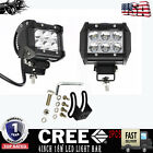 2PC CREE 18W LED Work Light Bar Spotlight For Yamaha Suzuki Honda Arctic Cat ATV