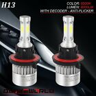 Fits Polaris 2x 80W Super White LED Headlight Bulb ATV Four Wheeler Side by Side