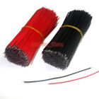 200pcs 28AWG UL1007 Double Head Tinned Copper Electronic wire (Black/Red)lot