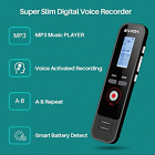 Digital Voice Activated Recorder 8GB 580 Hour MP3 Player Dictaphone 1536Kbps PCM