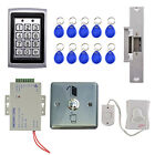 Full Complete RFID Access Control System Set Code Keypad Doorbell Door Lock
