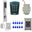 Door Access Control Kit ID Card Password System with 10pcs ID Key Fobs