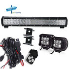 """Yamaha 20"""" inch LED Light Bar +18W Cube pods + 3lead Harness Remote Wiring Kits"""