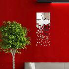 3D Luxury Mirror Surface Wall Clock Quartz Watch Home Office Room Decor #7