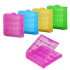 5x Plastic Case Holder Storage Box Colors for Rechargeable AA AAA Battery
