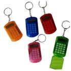 Battery Powered 8 Digits LCD Mini Calculator with Key buckle W9J4