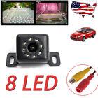 Universal 8 LED Waterproof Car Backup Reverse Rear View Mini Camera Wide Angle