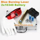 Most Powerful Focusable Blue Laser Pointer Laser Pen Laser Torch Burning 2x16340