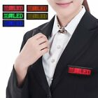 LED Badge Name Tag Message Sign KTV Badge Programmable Tag Message Board Chic