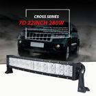 "22Inch 280W Curved Led Light Bar Cross DRL Fit Polaris Sportsman/RZR/Ranger 20"""