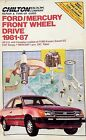 Chilton Ford Mercury Repair Tune Up Manual Front Wheel Drive Escort 1981-87 7055