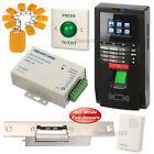 Fingerprint Code Access Control System + Electric Strike Lock NO Mode