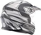 GMAX RAZ MATTE BLACK WHITE SILVER MX Dirt Helmet FREE SHIPPING