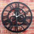 Large Vintage Gold Gear Wall Clock Mute Clock Handmade Rustic Art Antique Decor