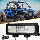 "Quad-Row 9"" 888W LED Light Bar Combo for Polaris Sportsman/RZR/Ranger ATV 12""/7"""