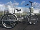 Silver 6 Speed Adult Tricycle Brand New Easy To Ride Big Seat & Large Basket!