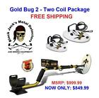 Fisher Gold Bug 2 Prospecting Metal Detector - Two Coil Package - Auth. DLR.