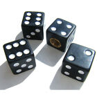 4pcs Black Dice Tire/Wheel Stem Air Valve CAPS Covers Set Car Truck Hot Rod ATV