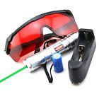 Silver GR6 532nm  Adjustable focus BURNING Green Laser Pointer & Battery&Charger