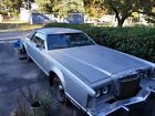 1979 Lincoln Mark Series Collector's Series RARE 1979 Lincoln Continental Mark V Collectors Series Moonlight Silver Blue Top