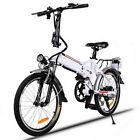 Folding 18.7''Wheel Electric Mountain Bike, 7 speed 36V 250W E-Bike Road Bicycle