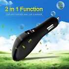 Car Air Purifier And Charger, 2 In 1 Ionic Cleaner Ionizer With USB Port Smart