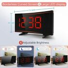 5'' Digital LCD Screen LED Curved Screen Projector Clock Dual Alarm 12/24 Hours