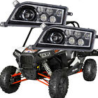 2015-2018 LED HEADLIGHT L/R for POLARIS RZR 900 & S-CONVERSION (1000 LEDS) Black