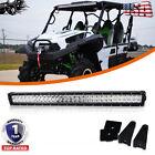 180W LED Light Bar Fit Kawasaki Mule Teryx Teryx4 Below Roof Roll Cage Bracket