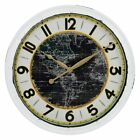Aspire Skylar Round 23.5 in. Wall Clock, Distressed White