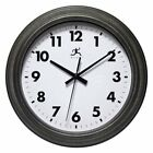 Infinity Instruments Magnus 11.5 in. Wall Clock, Black