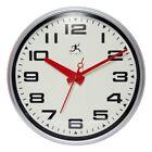 Infinity Instruments Lexington Avenue Wall Clock, Silver