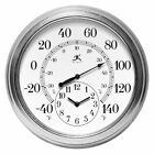 Infinity Instruments Prague 16 in. Wall Clock, Silver