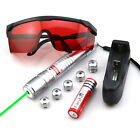 SGW2 532nm Green Laser Pointer Adjustable Focus Battery&Charger