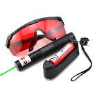 GR3 532nm Green Laser Pointer Adjustable Focus Li Battery&charger&Red Goggles