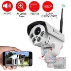 Wifi Security Camera 2MP 1080P 4X Zoom 32G SD Indoor/Outdoor Durable Waterproof