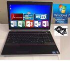 """Dell Latitude E6520 Laptop 15.6"""" Screen, Intel i7-2620M Wifi,Windows7+Word"""