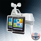 2 Display 01078M Pro Color Weather Station -Rain Wind Count Temperature Humidity